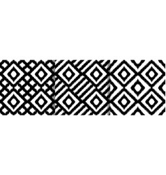 Ethnic squared seamless patterns set vector