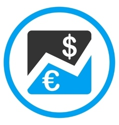 Euro And Dollar Finance Circled Icon vector
