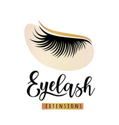 eyelash extensions logo with eye patch vector image
