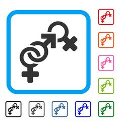 faith breach framed icon vector image