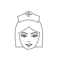 Figure face nurce icon image vector