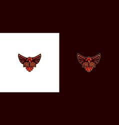 fire bird logo design vector image