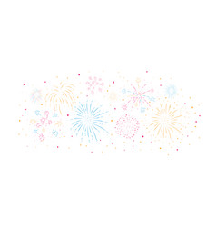 fireworks festive and event vector image