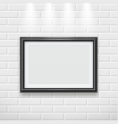 frame on wall modern picture frame for painting vector image