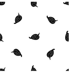 gammon pattern seamless black vector image