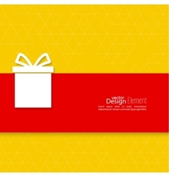 Gift box on narrow banner vector
