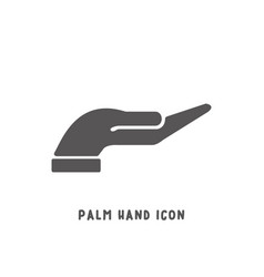 hand icon simple flat style vector image