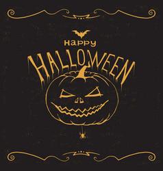 happy halloween print wall art poster vector image