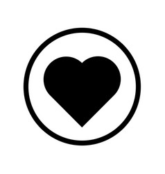heart icon - iconic design vector image