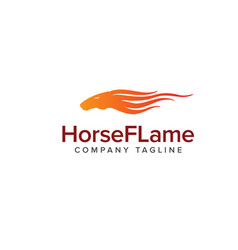 horse flame logo animals logo design concept vector image