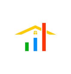 house statistic home market logo design template vector image