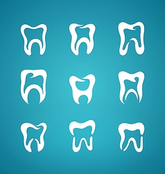 Icon painted teeth toothpaste vector