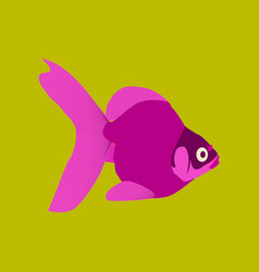 In flat style goldfish vector