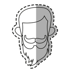 Isolated hipster man design vector image