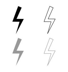 Lightning bolt electric power flash thunderbolt vector