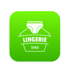lingerie beautiful icon green vector image