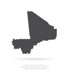 map mali isolated black on vector image