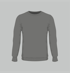 mens black sweater vector image