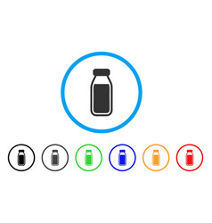 milk bottle rounded icon vector image