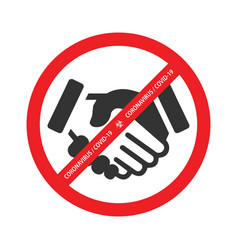 no handshake icon vector image