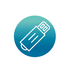 Office flash drive backup stationery supply block vector