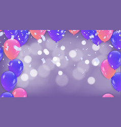 purple balloons mystery background with purple vector image