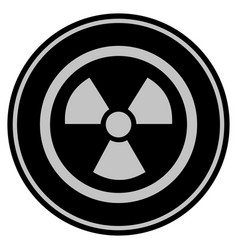 Radioactive black coin vector