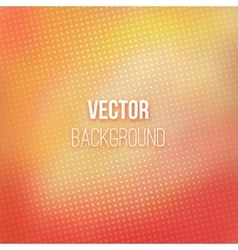 Red-orange Blurred Background With Halftone Effect vector