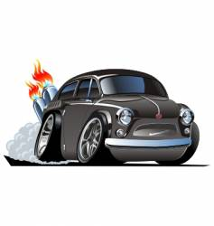 retro cartoon hot rod vector image