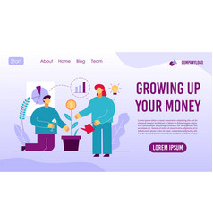 return to investment concept landing page design vector image