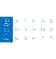 Room icons vector