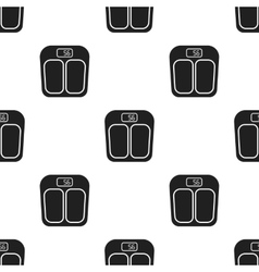 Scale icon in black style isolated on white vector