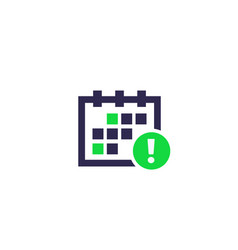 Schedule notification icon vector