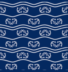 Seamless pattern with chains and anchors ongoing vector