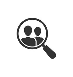 search job vacancy icon in flat style loupe vector image