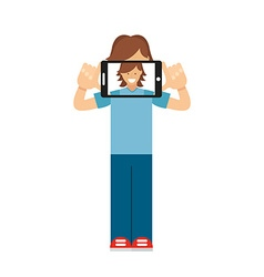 selfie photo vector image