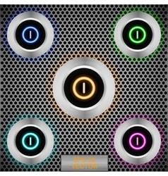 set led buttons vector image