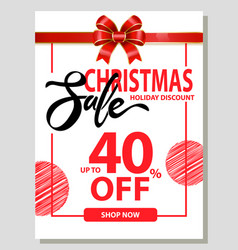 shopping christmas sale big discount card vector image
