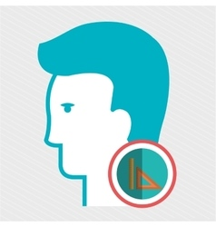 silhouette rule icon vector image