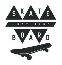 skateboard 015 vector image