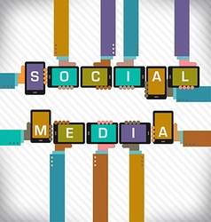 Social Media Smart Phones vector image