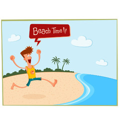 Summer in the beach vector