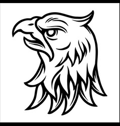 tattoo concept strong eagle head vector image