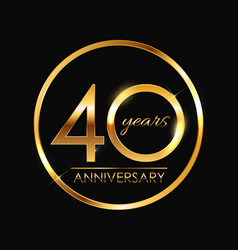 Template 40 years anniversary vector