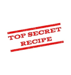 Top Secret Recipe Watermark Stamp vector image