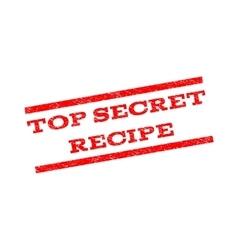 Top Secret Recipe Watermark Stamp vector