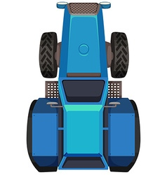 Top view of blue tractor vector