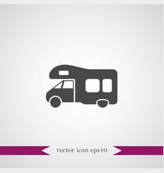 Trailer icon simple vector