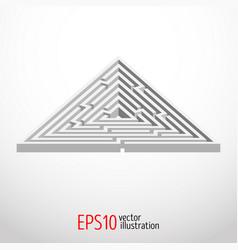triangular abstract maze 3d vector image
