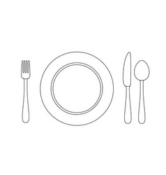Utensil line vector